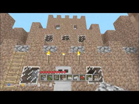 Minecraft Lets Build!: How To Build A Mud Castle (Part 3)