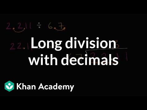 Long division with decimals   Arithmetic operations   5th grade   Khan Academy