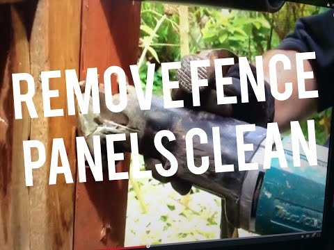Best way to Remove Fence Panel Saving the Post, Easy Simple