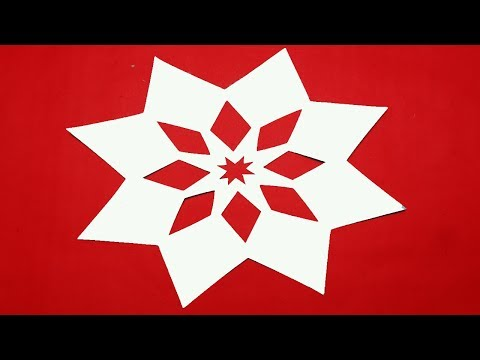 Paper Cutting Design-How to make Simple paper cutting Flowers?kirigami instructions step by step.