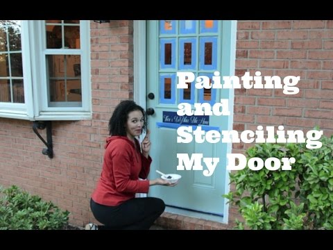 Painting and Stenciling My Exterior Door - Thrift Diving