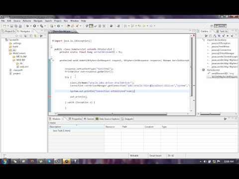 Servlet  with oracle database in eclipse
