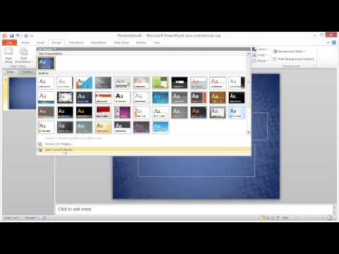 Importing a Theme into a Powerpoint project