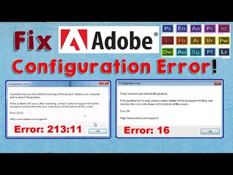 Fix Adobe Configuration Error 16 & Error 1 (Configuration Error in Adobe Products) - dreamerBros