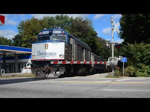 [HD 1080P] Amtrak Downeaster at Brighton Ave, Portland ME
