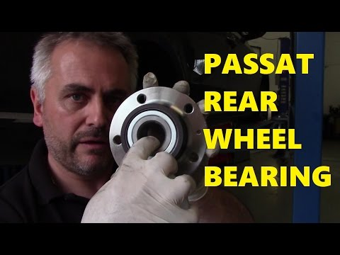 VW Passat how to change a Rear Wheel Bearing