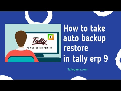 enable automatic backup and restore in tally erp9