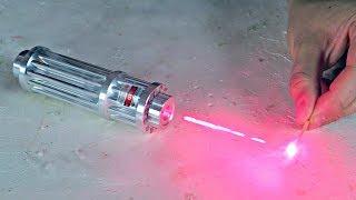 Testing Burning Laser Pointer 1W 650nm