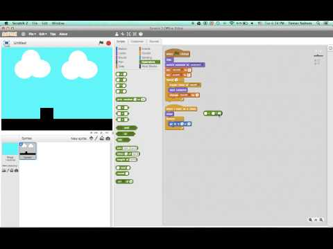 How to make a side scroller on scratch