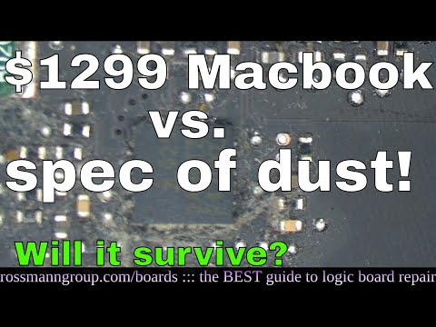 Can DUST kill a Macbook motherboard?