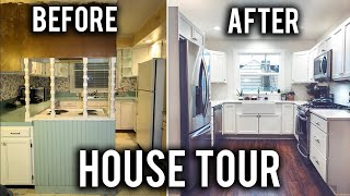 HOUSE TOUR! DRASTIC HOME REMODEL BEFORE & AFTER!