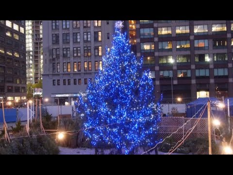 NYC Christmas Trees - SoHoTrees.com - New 30 Foot Christmas Tree in Downtown Manhattan