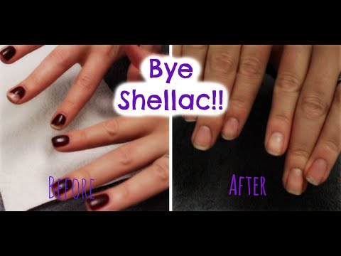 How to Remove Shellac Polish At Home!