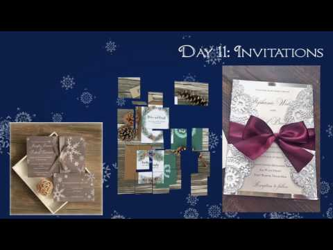 12 Days of Winter Wedding Ideas - Day 11: Invitations