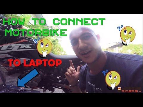 How To Connect Motorbike To Laptop - KLX250 / KLX330 API Tech Aftermarket ECU Tuning