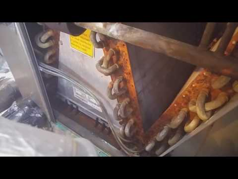 AC evaporator coil cleaning Water in pan