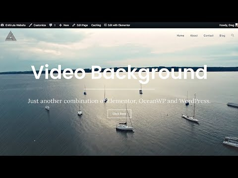 Video Background in Elementor and Ocean WP