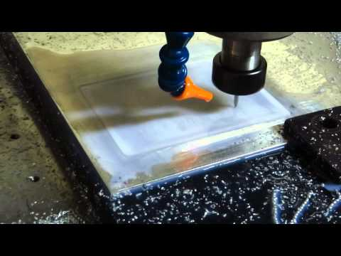CNC engraving aluminium embossing die