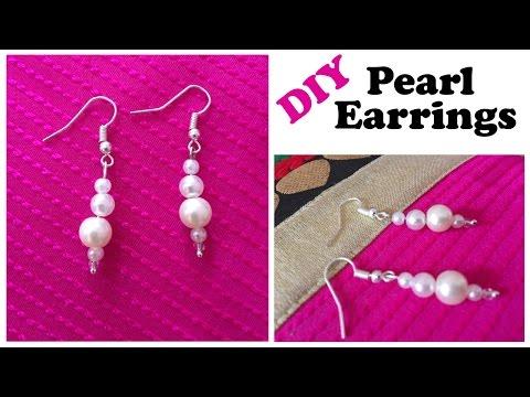 DIY Pearl Earrings   Super EASY Handmade Jewelry   Pearl Jewelry   Fashion Jewelry