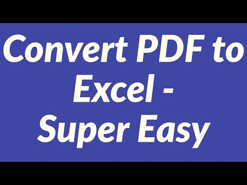 Convert pdf to Excel