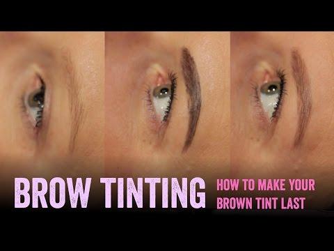 Make brown eyebrow tinting last longer - Salon Secrets