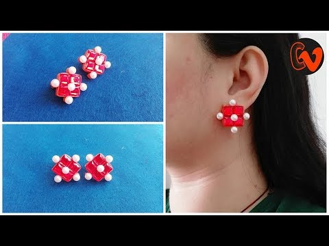 How To Make Quilling Stud Earrings Tutorial / Paper Quilling Earrings / Design 29