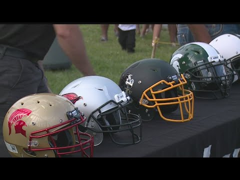 Youth football league in Youngstown starts helmet drive for new gear