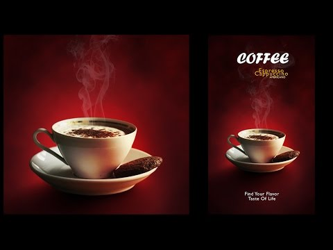 Design a Minimalist Coffee Menu Poster In Photoshop