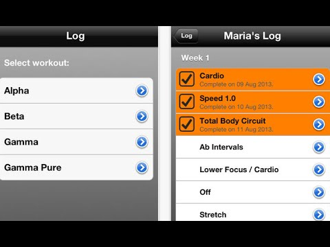 iPhone & iPad Apps for Tracking Focus T25 Workouts