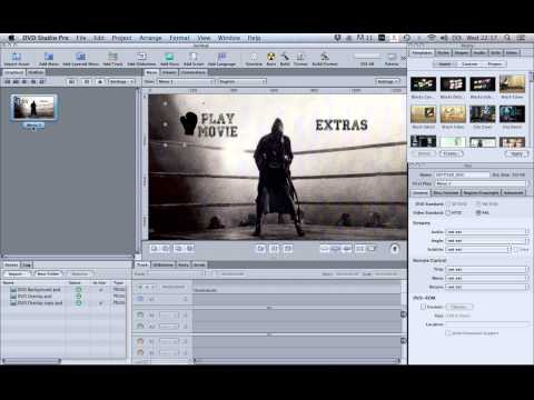 How to create custom buttons in DVD Studio Pro