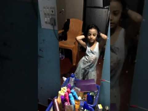 My daughter dancing! Watching herself in mirror.  Secretly Recorded! Beauty Journal