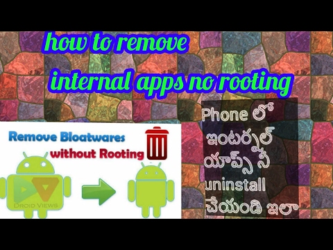 how to remove preinstalled apps on android without rooting in telugu !