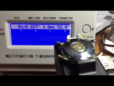 Omega automatic constellation watch testing for keep and accurate time.