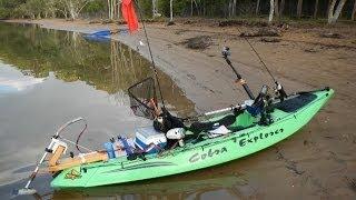 """Kayak trolling motor in action """"MUST SEE VIDEO"""" (達爾文釣魚日記 - 機動釣魚獨木舟)"""