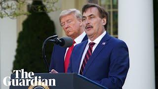 Trump uses White House coronavirus briefing to promote corporate allies