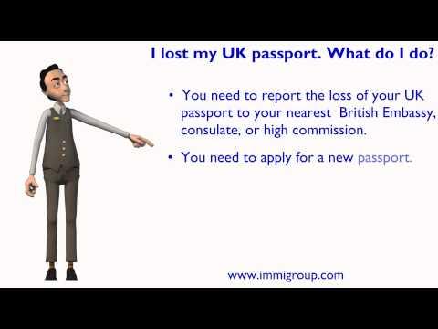 I lost my UK passport. What do I do?