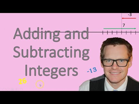 Adding and Subtracting Integers (Simplifying Math)
