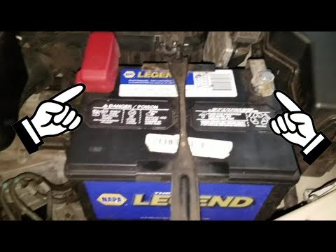 close view of Battery Terminals Toyota Camry 2006-2011