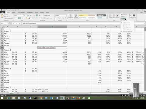 How to remove a hyperlink in Microsoft Excel 2013