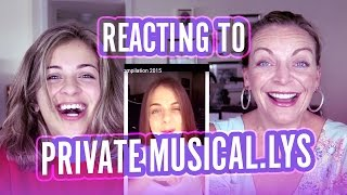 Reacting To My Private Musically S Baby Ariel