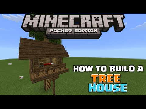 MCPE HOUSE TUTORIALS - How To Build  A Tree House - Minecraft PE (Pocket Edition)