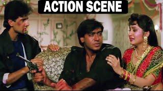 ज़ख़्मी हालत में अजय देवगन ने शादी करवाई   Ajay Devgn Hindi Action Scene   Dil Hai Betaab Scene
