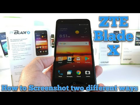 ZTE Blade X How to ScreenShot Two different ways