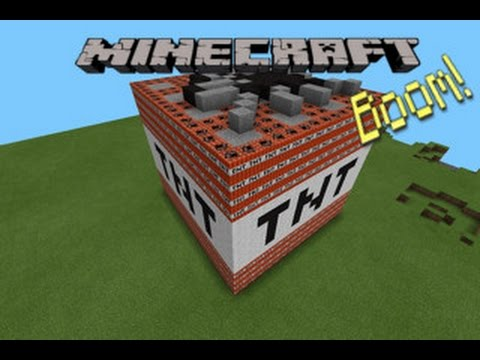 Minecraft PE Pixel Art - Giant TNT Block with explosion and aftermath!