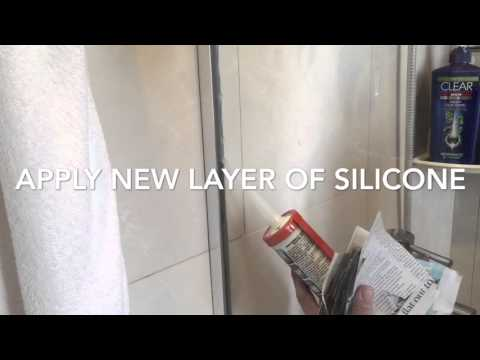 Replace silicone seal on shower screen