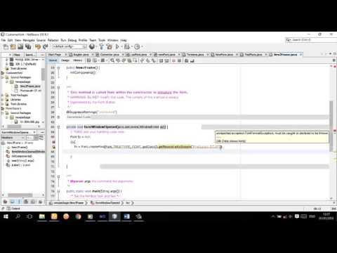 ການ add font ຂອງ custom ເຂົ້າໃນ java project
