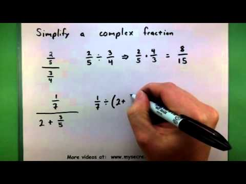 Basic Math - Simplify a complex fraction