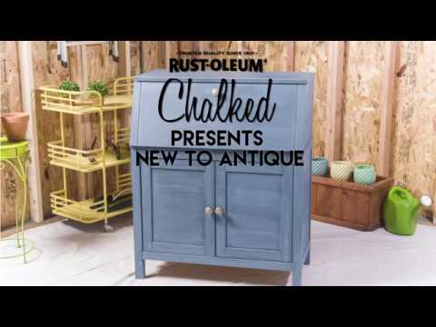 Take an Inexpensive Desk to the Next Level with Rust-Oleum Chalked. Learn how Today!