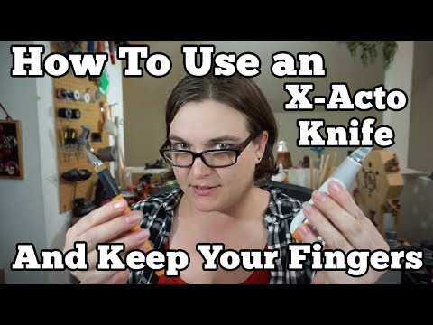 How To Use a Craft Knife and Keep Your Fingers
