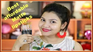 Under #Rs.150 Best affordable Matte lipsticks in India / NY Bae lip crayons Review with Swatches
